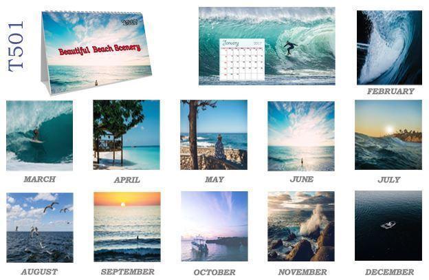 T501 Beach Table Calendar 2017