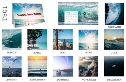 T501 Beach Table Calendar 2017