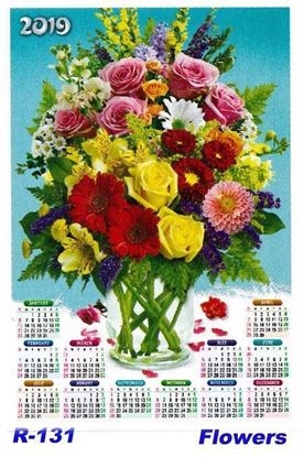 R-131  Flowers  Polyfoam Calendar 2019