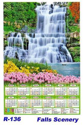 R-136 Falls Scenery Polyfoam Calendar 2019