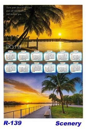 R-139 Scenery Polyfoam Calendar 2019