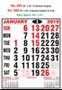 R685 English Monthly Calendar 2019 Online Printing