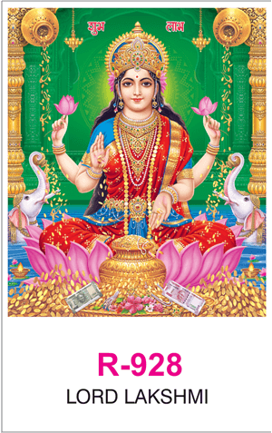R-928 Lord Lakshmi Real Art Calendar 2019