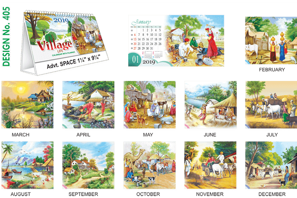 T405 Village Table Calendar 2019
