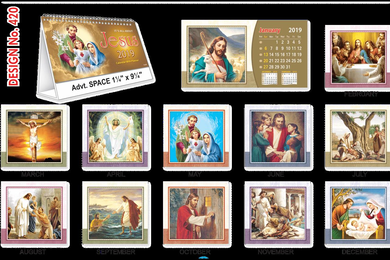 T420 Jesus Table Calendar 2019