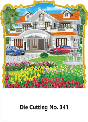 D-341 House Scenery Daily Calendar 2019