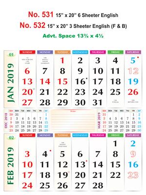 3 Sheet Special Bi-Monthly Calendar