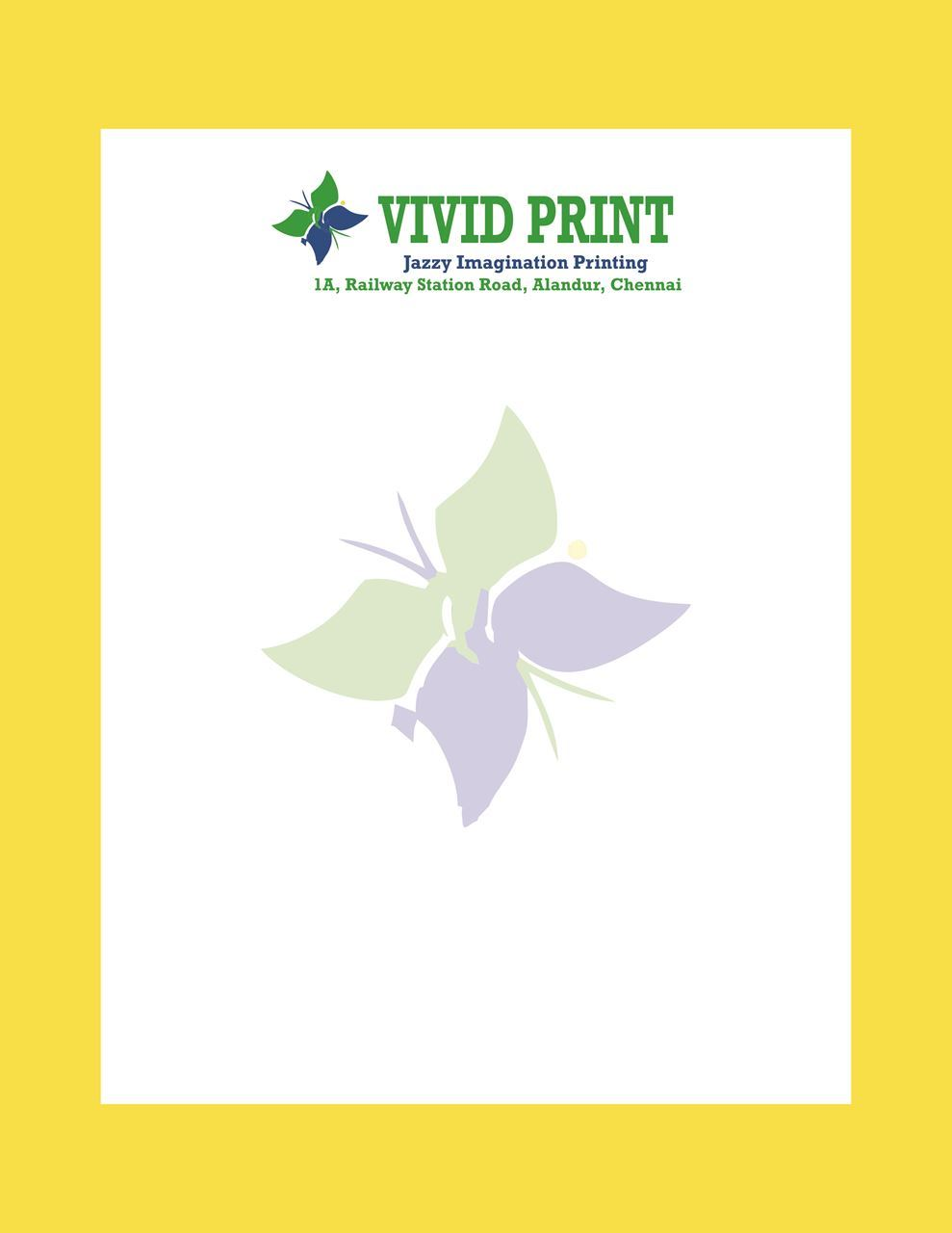 Picture of Standard A4 Letterhead Two Colour Printing