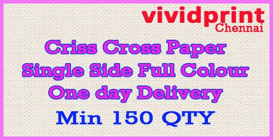 Criss Cross Card Single Side (Min. 150 QTY)