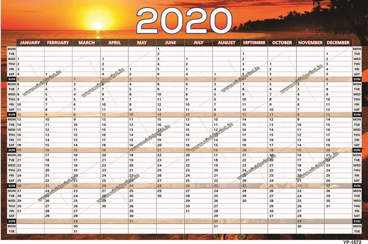 YP- 1572 Year Planner 2020 online printing