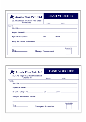A5 Single Colour Voucher Printing 100 Per Book