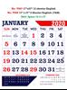 V607 English Monthly Calendar 2020 Online Printing