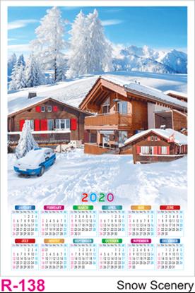 R 138 Snow Scenery Polyfoam Calendar 2020 Online Printing