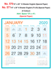 R570 English In Spl Paper Monthly Calendar 2020 Online Printing