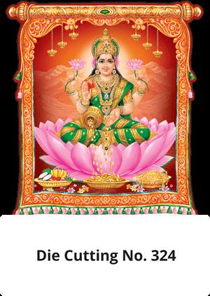 D 324 Lord Lakshmi Die Cutting Daily Calendar 2020 Online Printing