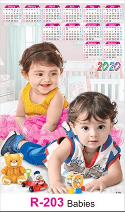 R 203 Babies Real Art Calendar 2020 Printing