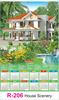 R 206 House Scenery Real Art Calendar 2020 Printing