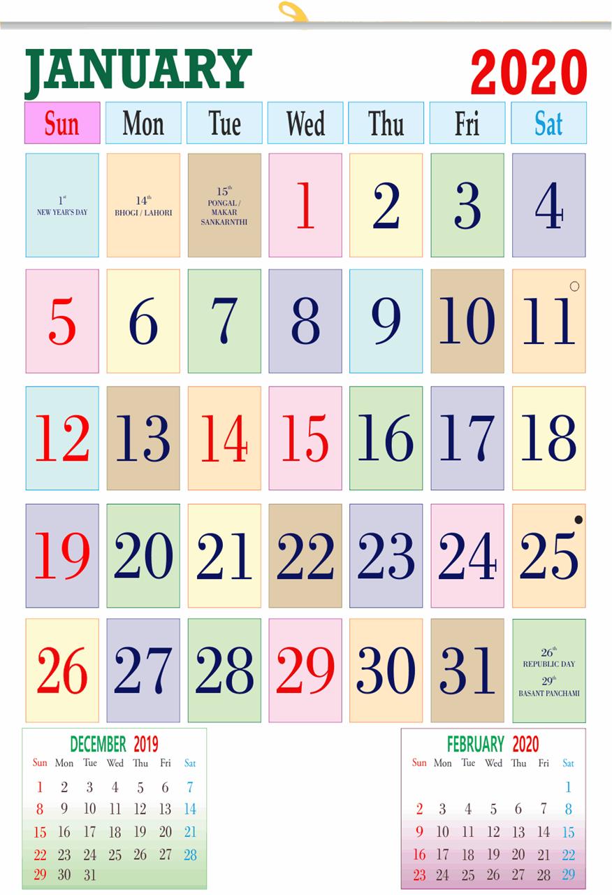 """V817 13x19"""" 12 Sheeter Monthly Calendar 2020"""