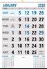 """V823 13x19"""" 12 Sheeter Monthly Calendar 2020"""