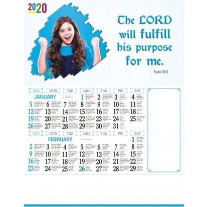 C1014 English Christian Calendars 2020 online printing