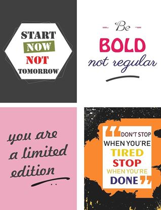 P1013 Motivational & Be Bold Posters