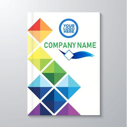 Special Diary Printing A4 with company name, logo and product printing in multi colour
