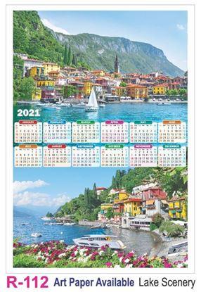 R112 Lake Scenery Plastic Calendar Print 2021