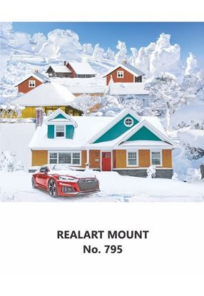 R795 Snow  House Scenery Daily Calendar Printing 2021