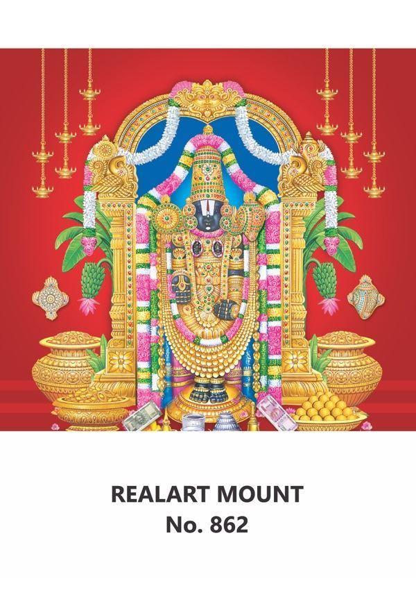 R862 Lord Balaji Daily Calendar Printing 2021