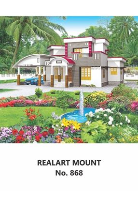 R868 House Scenery Daily Calendar Printing 2021