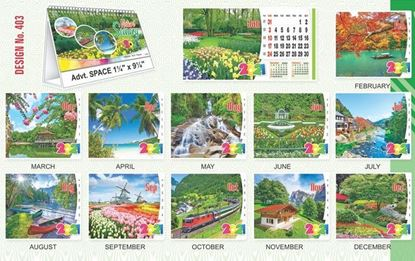 T403 Nature Scenery - Table Calendar With Planner Print 2021