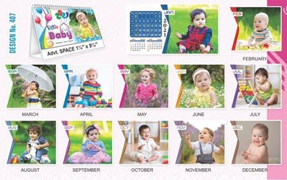 T407 Little Baby - Table Calendar With Planner Print 2021