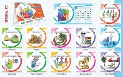 T412 Motivation - Table Calendar With Planner Print 2021