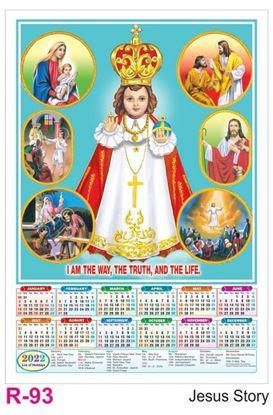 R93 Jesus Story Plastic Calendar Print 2022