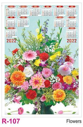 R107 Flowers Plastic Calendar Print 2022