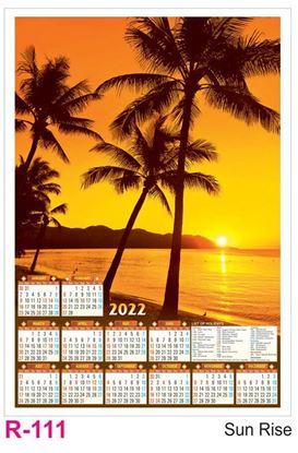 R111 Sun Rise Plastic Calendar Print 2022