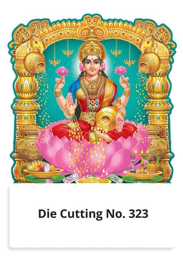 R323 Lord Lakshmi Daily Calendar Printing 2022