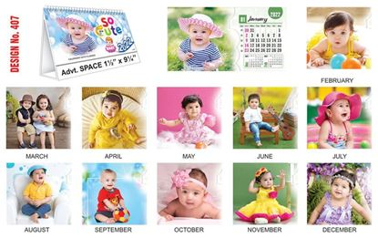 T407 Cute  Baby - Table Calendar With Planner Print 2022