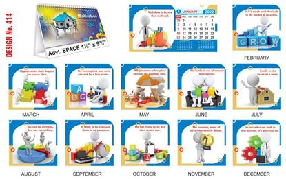 T414 Motivational - Table Calendar With Planner Print 2022