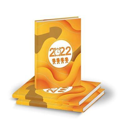 D3001 Orange Team Clock Diary print 2022